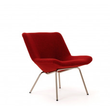 Lehti chair with Kvadrat Tonica, chrome leg