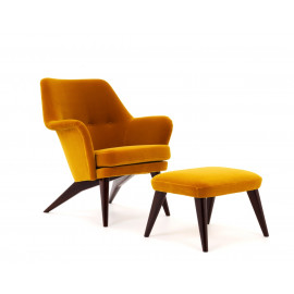 Grand Pedro lounge chair and footstool - RESERVED